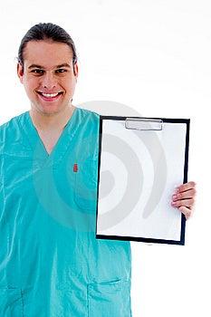 Doutor Masculino Com Bloco De Notas Da Prescrição Imagens de Stock - Imagem: 8433274