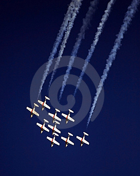 Aerobatic Formation Stock Images - Image: 8433594