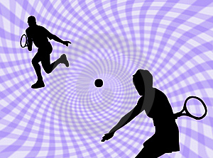 Tennis Game Royalty Free Stock Photos - Image: 8434268