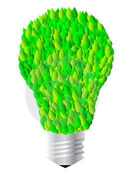 Lightbulb With Leaves Stock Images - Image: 8434894