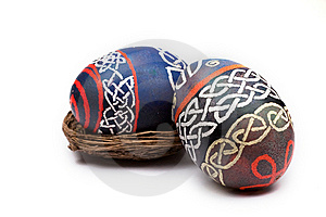 Celtic Easter Eggs Royalty Free Stock Photo - Image: 8435475