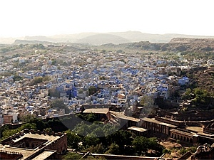 City Aerial View - Jodpur, Rajasthan Royalty Free Stock Photography - Image: 8435747