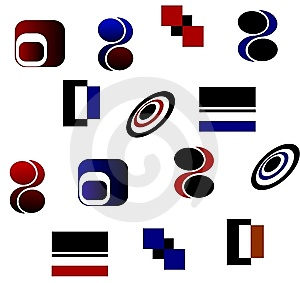 Ícones Dos Logotipos Fotos de Stock Royalty Free - Imagem: 8435968