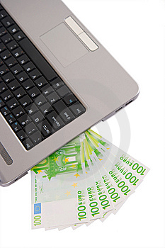 Money And Laptop Stock Image - Image: 8436101
