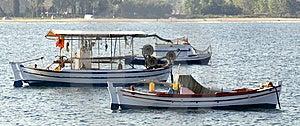 Three Fishing Boats Royalty Free Stock Photos - Image: 8436138