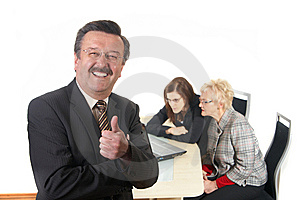Success @ Work Stock Image - Image: 8436191