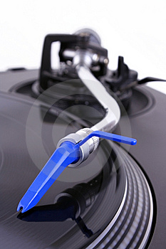 Turntable With Needle Royalty Free Stock Images - Image: 8437089