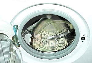 Money White-washing Royalty Free Stock Images - Image: 8437419