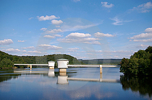Artificial Lake In The Ardennes Royalty Free Stock Image - Image: 8438696