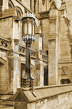 Gothic Lamp And Building Stock Photography - Image: 8439552
