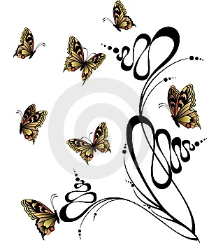 Butterflies Royalty Free Stock Photography - Image: 8439837