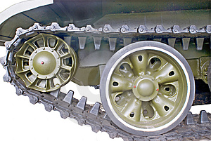 A Part Of Panzer On White Stock Images - Image: 8439864