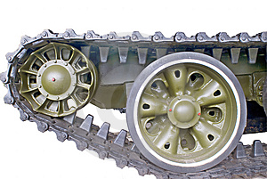 A Part Of Panzer On White Royalty Free Stock Image - Image: 8439896