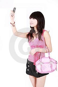 Een Mooi Aziatisch Meisje Royalty-vrije Stock Foto's - Afbeelding: 8440028