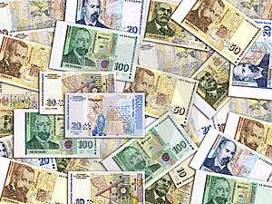 Bulgarian Money Mess Stock Photography - Image: 8440452