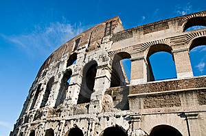 Colosseum - Roman Arches In Stone Royalty Free Stock Photography - Image: 8440537
