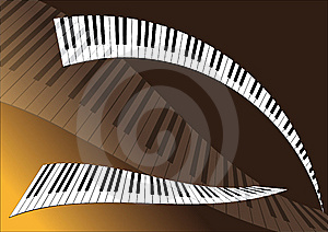Piano Background Royalty Free Stock Photo - Image: 8441115