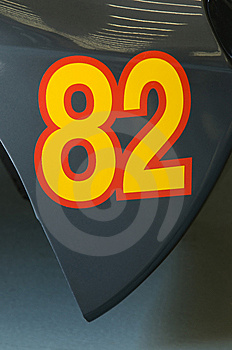 Racecar Number Royalty Free Stock Photography - Image: 8441207