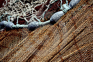 Fishing Net And Weights Royalty Free Stock Photography - Image: 8441337