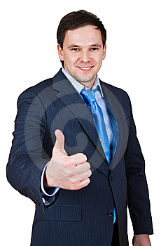 Businessman Show Thumb Up Sing Stock Photography - Image: 8441712