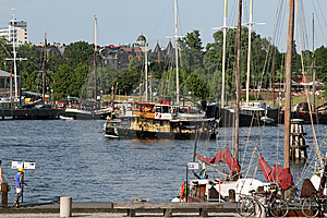 Wooden Touris Boat In Stockholm Stock Photos - Image: 8442743