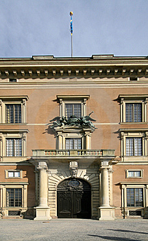 Entrance Of A Stockholm Palace Royalty Free Stock Photography - Image: 8442857