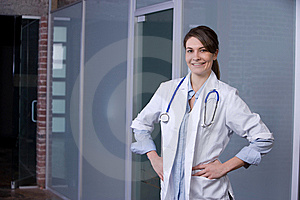 Female Doctor In A Modern Office Stock Photos - Image: 8443223
