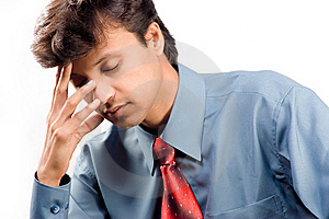 Tired Young Businessman Stock Photo - Image: 8443310