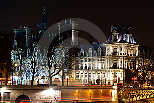 Paris Hotel De Ville Stock Images - Image: 8443784