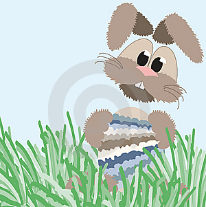 Happy Fluffy Pastel Easter Bunny Royalty Free Stock Image - Image: 8444006