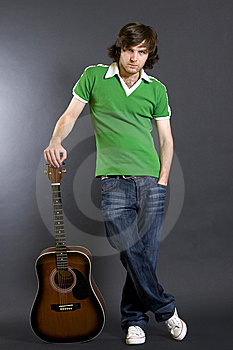 Guitarist With An Acoustic Guitar Stock Photography - Image: 8444062