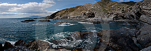 Rocky Panoramic Ocean View Royalty Free Stock Photos - Image: 8444138