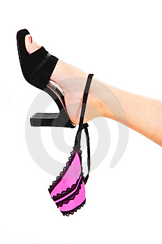 Womans Foot With Thong. Stock Photography - Image: 8444212