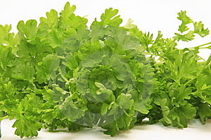 Bunch Of Parsley Isolated Royalty Free Stock Photo - Image: 8444575