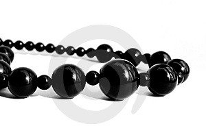 Black Pearl Necklace Isolated Stock Images - Image: 8444634