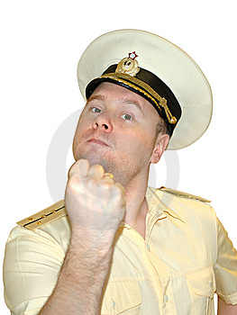 Russian Naval Officer. Royalty Free Stock Photo - Image: 8445025