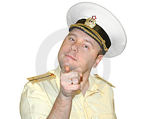 Russian Naval Officer. Stock Photo - Image: 8445030