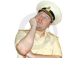 Russian Naval Officer. Royalty Free Stock Photography - Image: 8445037
