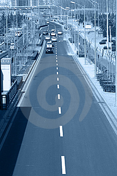 City Road Traffic Stock Image - Image: 8445101