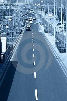 City Road Traffic Stock Image - Image: 8445101