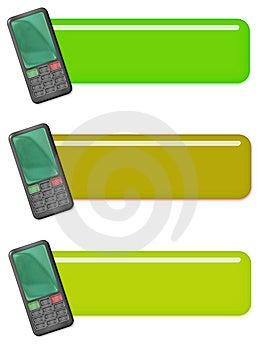 Mobiltelefonsymbolsetiketter Royaltyfria Foton - Bild: 8445538