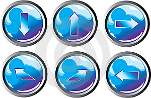 Blue Arrow Buttons Stock Photos - Image: 8446073