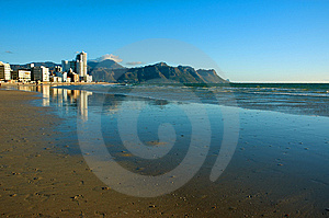Buildings On The Ocean Coast. Royalty Free Stock Photography - Image: 8446137
