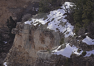 Grand Canyon Snow Royalty Free Stock Photography - Image: 8447267