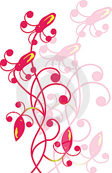 Floral And Butterfly Stock Photo - Image: 8447400