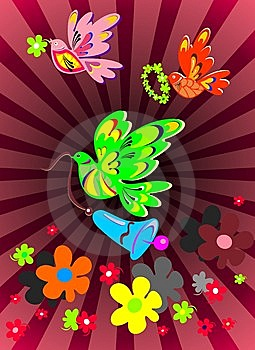 Easter Spring Banner. Royalty Free Stock Images - Image: 8447509