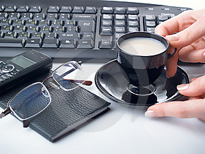 Hand With Cup Stock Images - Image: 8447944