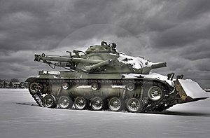 Snow Tank HDR Royalty Free Stock Image - Image: 8449006