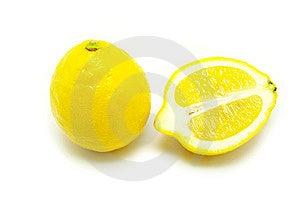 Lemons On White Royalty Free Stock Photography - Image: 8449257