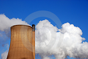 Steam And Sky Stock Image - Image: 8450071